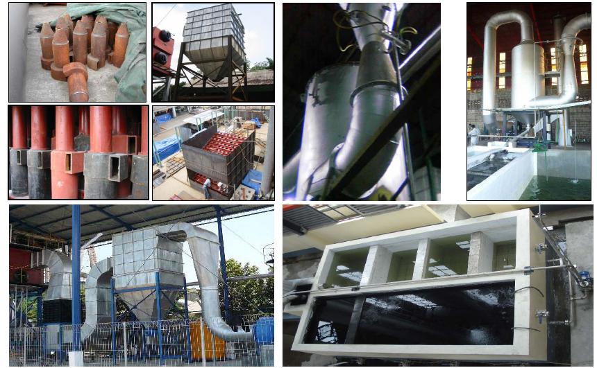 Multi Cyclon dust collector (cast iron) and Venturi wet scrubber