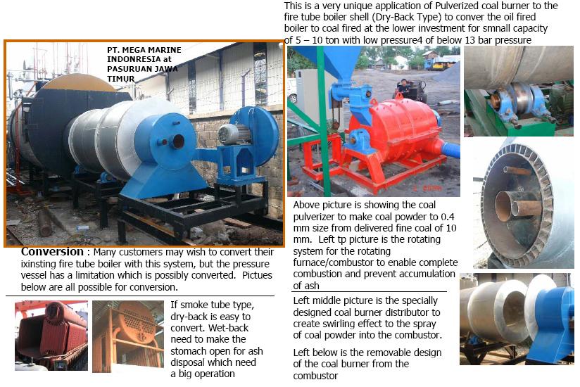 Pulverized Coal Burner for Coalmac Boiler