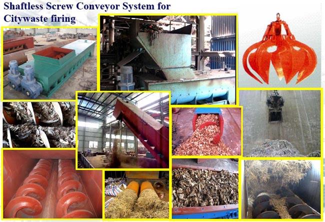 Shaftless Screw Conveyor System for Citywaste Firing